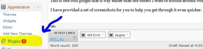 picture of plugins in dashborad